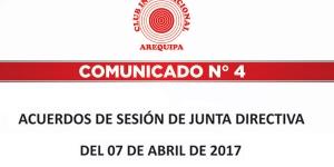 Comunicados   Club Internacional Arequipa