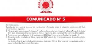 Comunicados | Club Internacional Arequipa